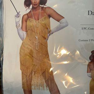 🎃 Leg Avenue Gold Flapper Dress